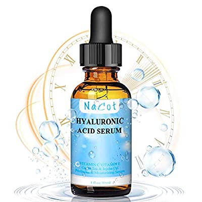 Hyaluronic Acid Face Serum - Hyaluronic Acid with Vitamin C & E, Aloe Vera, Jojoba Oil & Witch Hazel Face Serum for Fine Lines Anti Wrinkle & Aging, Dark Circles & Acne for Face - 1oz