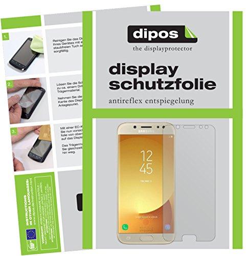 dipos I 2X Schutzfolie matt kompatibel mit Samsung Galaxy J5 2017 Folie Displayschutzfolie