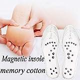 Queste solette magnetiche massaggiano terapeuticamente le piante dei piedi, stimolando i punti di pressione sulle piante dei piedi in modo naturale e senza sforzo mentre si cammina, consentendo di godere di una nuova vitalità e comfort. Dimensioni re...