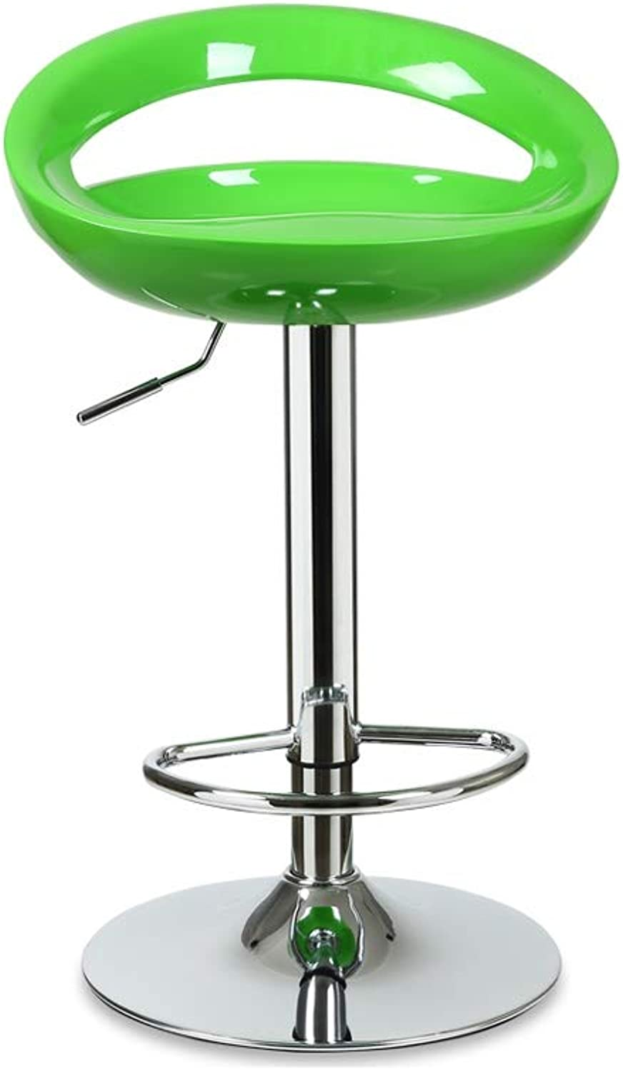 Stool Home redating Lift Bar Chair Extended Backrest High Elastic Sponge ABS Resin Chair 8 color 38.5cm  80-100cm (color   Green)