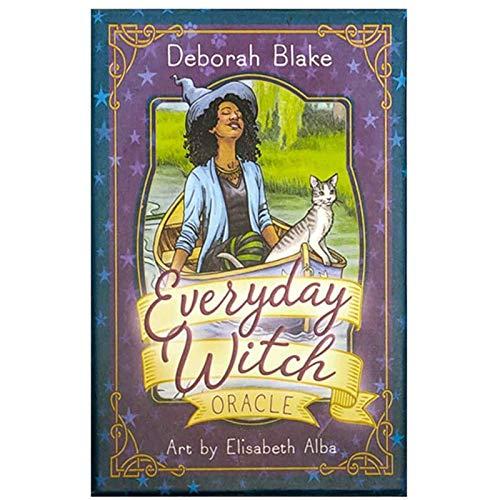LHJY Everyday Witch Oracle Cards, Juego De Mesa De Cartas De Tarot Inglés, para Niños, Adultos, Cartas De Mesa, Juegos, Amantes (2 Cajas)