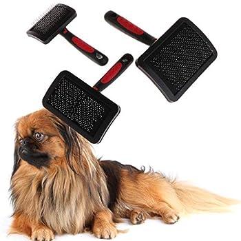 Mentin Peigne de Toilettage de Chat d'animal Élimination des Cheveux Enlever Brosse pour Chat, Chien (S: 14x8x5cm)