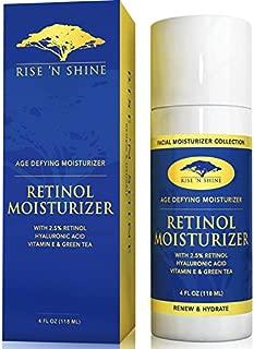 Retinol Moisturizer Night Cream for Face - 2.5% with Hyaluronic Acid, Vitamin A & E - Anti-Aging Moisturizer, Improves Skin Tone, Wrinkles, Skin Discoloration, Spot Corrector & Helps Sun Damage (4 oz)