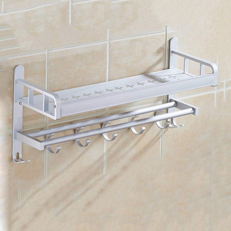 GFF Bathroom Shelf Shelf Free Punch Wall Mount Bathroom Toilet Toilet Vanity Bathroom Supplies Triangular Suction Wall (color   40cm)