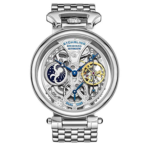 Stuhrling Original Special Reserve Men's Automatic Watch with Silver Dial Analogue Display and Silver Stainless Steel Bracelet 797. 01