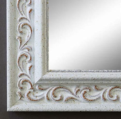 Online Galerie Bingold Spiegel Wandspiegel Badspiegel Flurspiegel Garderobenspiegel - Über 200 Größen - Verona Weiß 4,4 - Außenmaß des Spiegels 50 x 70 - Wunschmaße auf Anfrage - Modern