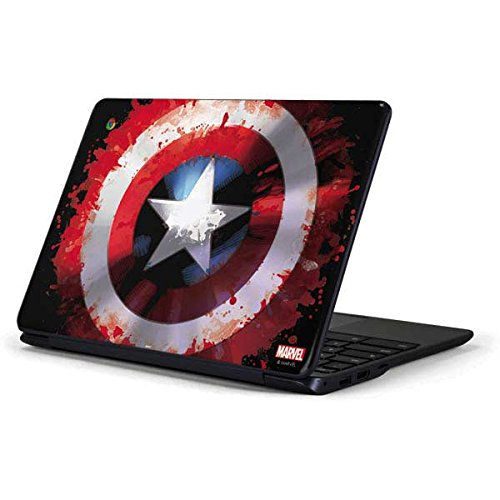 Skinit Decal Laptop Skin for Chromebook 3 11.6in 500c13-k01 - Officially Licensed Marvel/Disney Captain America Shield Design