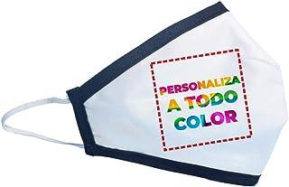 Promo Shop Mascarilla Higiénica Reutilizable Personalizada (Logo, Imagen o Diseño) a Una Cara • Lavable en Lavadora • Capa...