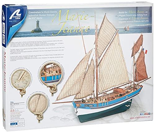 Artesanía Latina 22170. Trämodell av fiskebåt Marie Jeanne 1/50