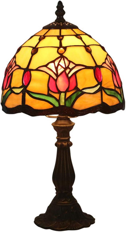 KCoob Tischlampe Medium Classic Tulip Muster auf Umbrella Form Form Form Cover Orange natürliches Licht für Schlafzimmer B07HRSLRM2   Outlet Store  67cd63