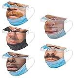 YINGXIONG 50 100 Stück Lustige Mundschutz Erwachsene Einweg Mund und Nasenschutz Bedeckung Männer Funny Mund-Nase Muster Einmal 3-lagig Mundschutz Multifunktionstuch Gesichtsschutz Halstuchs