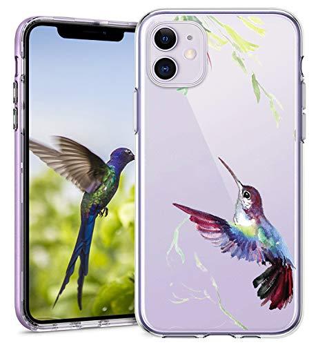 Opplei Funda para iPhone 12 Mini 5,4 pulgadas funda fina de silicona TPU resistente a los golpes antideslizante con bonito patrón de animales transparente compatible con iPhone 12 Mini 5,4 pul