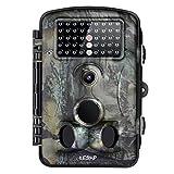 GraceU Caméra de chasse photographique 12 MP 1080p HD grand angle 120 ° avec vision nocturne infrarouge 42 LED IR et écran LCD 6,1 cm