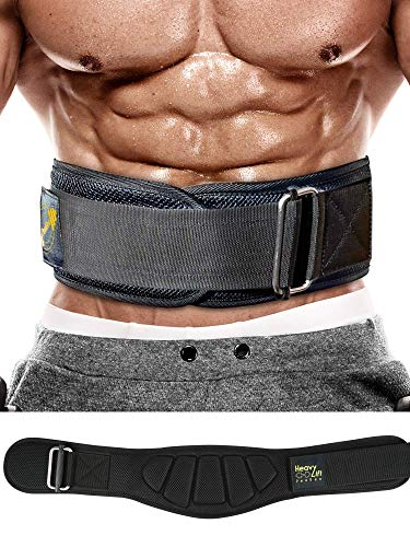 "PeoBeo Weight Lifting Belt for Heavy Lifting Workouts | 6 Inch Power Weight Lifting Belt for Men and Women (Black, Medium: 31'-35"" Around Navel not Pants Size)"