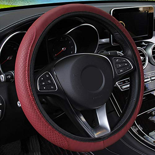 USNASLM Funda de cuero para volante de coche, para Chevrolet Lova Sail Aveo Cruze para Vauxhall Opel Insignia Astra Buick