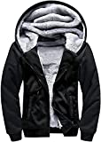 SwissWell Chaqueta con capucha para hombre, resistente al viento, diseño de camuflaje, azul, con bolsillos con cremallera, forro polar, clásica y cálida, color negro, talla M