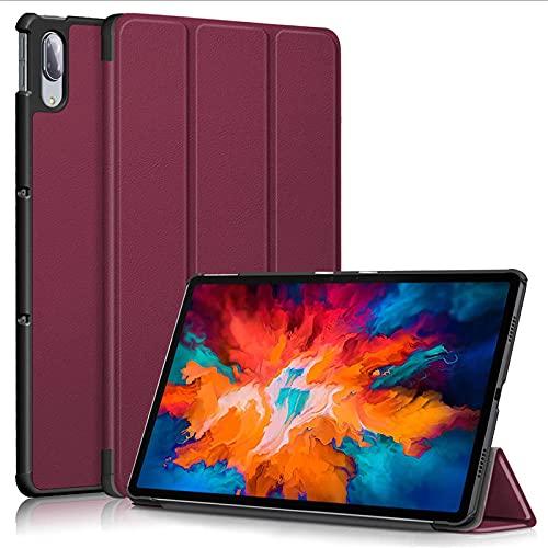 Para Lenovo Tab P11 Pro/PAD PRO 11.5 TB-J706F J706F J706 TB-J706 Tablet Case Custer Fold Soporte Flip Funda de cuero KST Viento Rojo