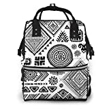 NHJYU Bolsa de pañales, Large Capacity Waterproof Travel Ma-na-ger,baby Care Replacement Bag Versatile Stylish And Durable, Suitable For Mom And Dad,Tribal Vintage Ethnic Pattern Set Vector Image