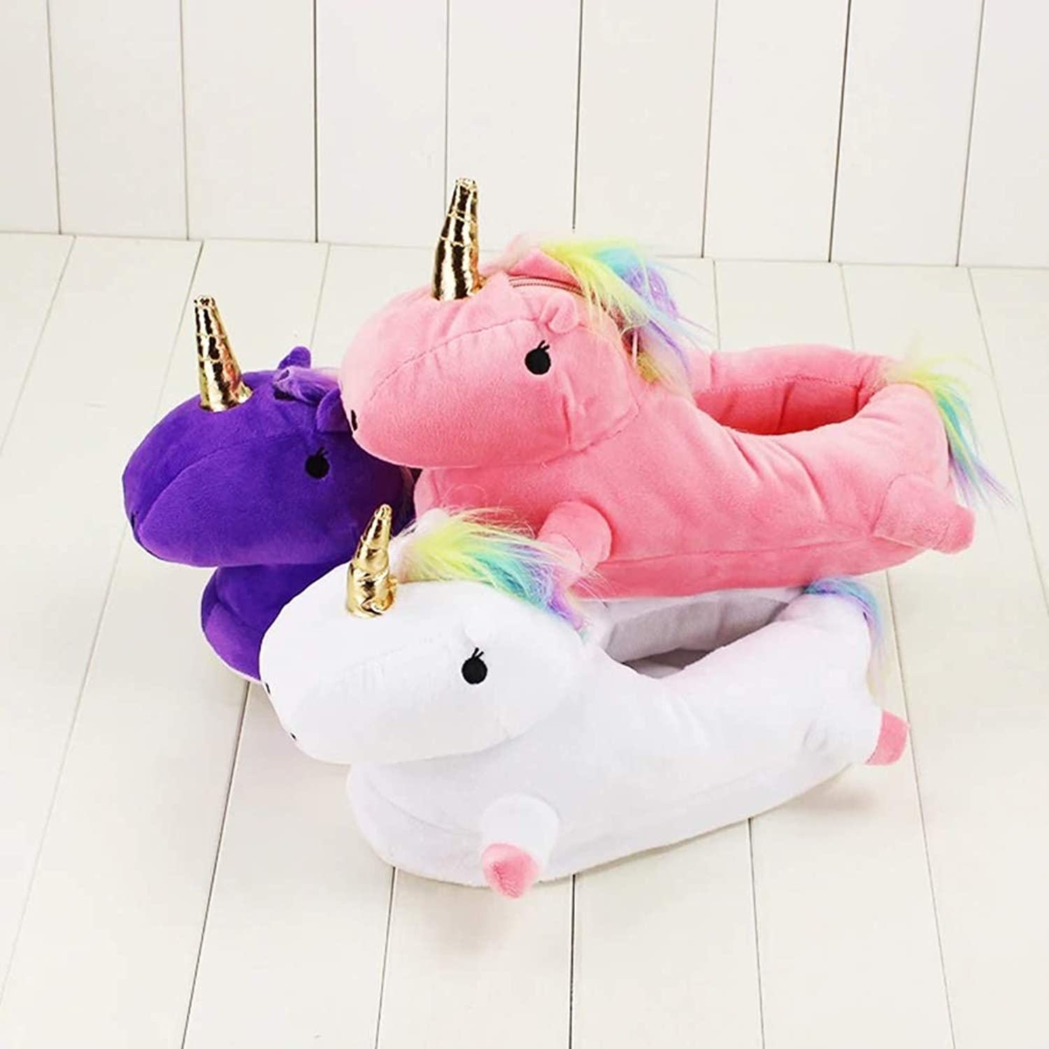 1629cm Unicorn Slippers with Light 3 Styles Slippers Pink Purple White Kawaii Unicorn Slippers Winter Slippers for Warm Gift