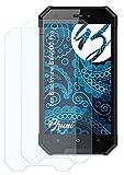 Bruni Schutzfolie kompatibel mit Blackview BV4000 Pro Folie, glasklare Bildschirmschutzfolie (2X)