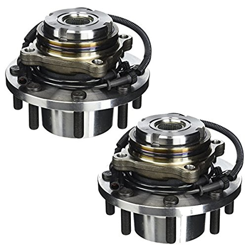 Detroit Axle 515025 Both Front Wheel Hub and Bearing Assembly For 1999 2000 2001 2002 2003 2004 Ford F-250 f250 F-350 f350 F-450 f450 F-550 f550 SD 4x4 w/ABS