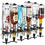 drinkstuff Beaumont 3271 / 3103 Wand montiert 6Flasche Trinkmengen mit 25ml Spirit Maßnahmen