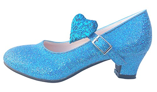 La Señorita Elsa Frozen scarpe principessa flamenco blu bambini o le donne