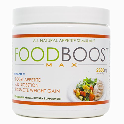 VH Nutrition | FoodBoost MAX | Appetite Stimulant for Men and Women | Natural Weight Gain Pills - 30 Day Supply - 120 Capsules