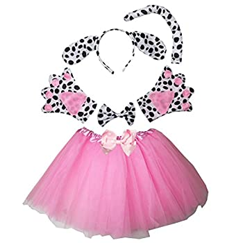 Kirei Sui Kids Spotted Dog Costume Tutu Set Pink