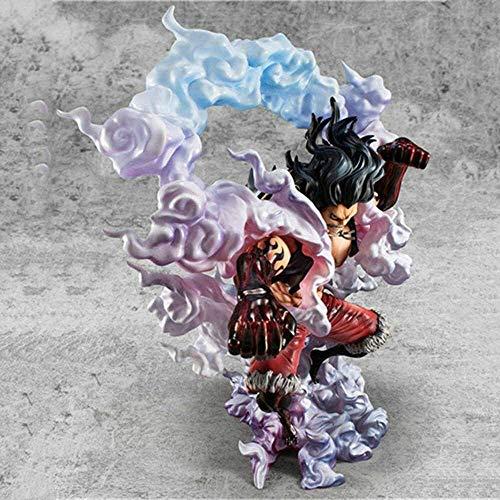 W-HUAJIA Anime Figur einteilig Action Abbildung Vierter Schlange Mann AFFE D Luffy 28cm Figur Sammlung Dekor Ornamente Statue Modell Kinder Spielzeug Puppe Geschenk (Farbe: Monkey.d.Luffy)