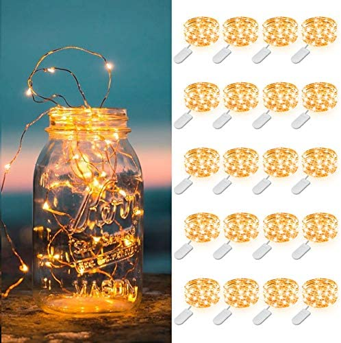 MUMUXI 20 Pack Fairy Lights Battery Operated 3 3ft 20 LED Mini Waterproof Fairy String Lights product image