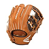 Easton Professional Collection Baseball Glove, Right Hand Throw, 11.5', Brown/Black, I-Web
