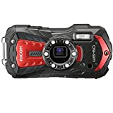 Ricoh WG-60 Red Waterproof Camera 16MP High resolution images Waterproof 14m...