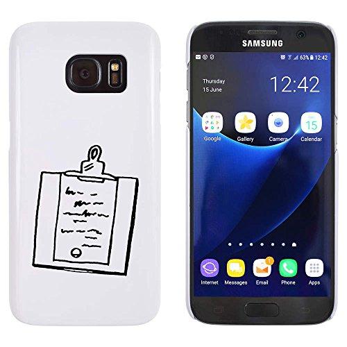 Azeeda Weiß \'Zwischenablage\' Hülle für Samsung-Galaxie S7 (MC00094820)