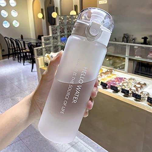 UKKD Hervidor Botella De Agua Portátil Botella De Agua Plástica Con Helada Con Cuerda De Deporte Al Aire Libre Viaje De Campamento Jugo Taza De Leche-780Ml 24X7.35X7.35Cm