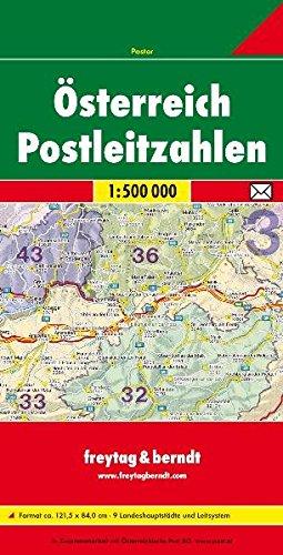 Freytag Berndt Karten, Postleitzahlen Österreich gefaltet 1:500.000