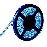 LEDテープ 防水 24V 5m 300連 SMD5050 ブルー 青 白ベース 正面発光 LEDイルミネーション 切断可能