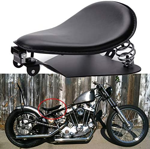 Black Motorcycle Leather Solo Seat Springs Mounting Bracket Kit for Harley Sportster XL 883 product image