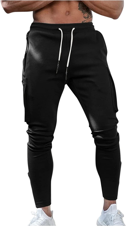 aihihe Mens Sweatpants Joggers, Men's Slim Fit Workout Athletic Pants, Sweatpants for Men with Pockets