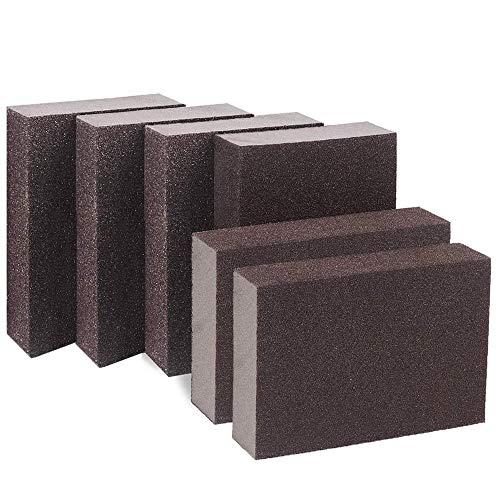 per cucina da lavare 5 tamponi abrasivi in spugna stoviglie colore: nero antigraffio 4 pollici x 2,8 pollici