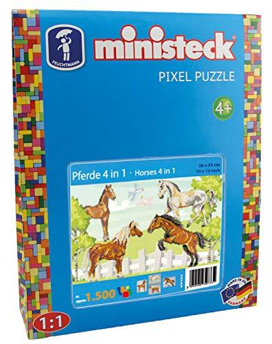Ministeck 32733 - Pferde 4in1, ca. 1.500 Teile