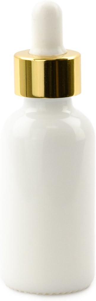 Grand Parfums Luxury 30ml Milk Glass Bottles Elegant Silve NEW with Dropper
