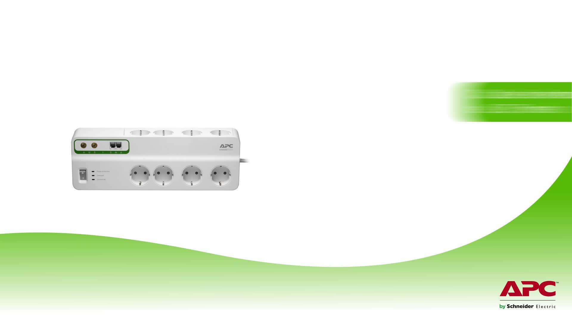 APC by Schneider Electric PMF83VT-GR Surge Arrest Performance - Regleta con protección contra subidas y picos de tensión, Incluyendo protección línea ...