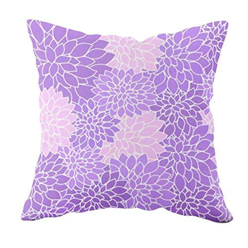 LIUXU Funda de almohada creativa para silla de comedor, antiarrugas, transpirable, antiincrustante, color morado