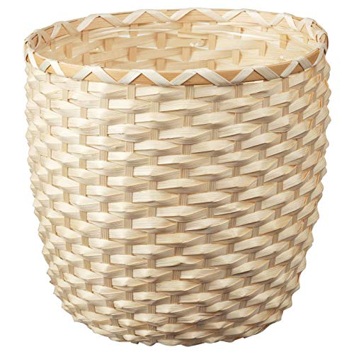Pflanzkübel, Bambus, aufgebaute Größe: Höhe: 26 cm, Außendurchmesser: 27 cm, max. Durchmesser Blumentopf: 24 cm, Innendurchmesser: 25 cm