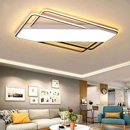 Oberflächenmontierter LED-Kronleuchter Moderne Deckenleuchter-Beleuchtungskörper für Wohnzimmer Schlafzimmer Küche Glanz Lampe Deco Tech, Rund T55xH5cm, Warmweiß, keine Fernbedienung