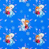 Baumwolljersey Disney's Frozen blau - Preis gilt für 0,5