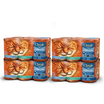 BUTCHER'S Classic Wet Cat Food Variety Tin Fish in Jelly (24 x 400g)