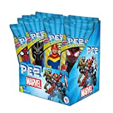 PEZ Candy, Marvel Assortment (Pack of 12, individually wrapped)