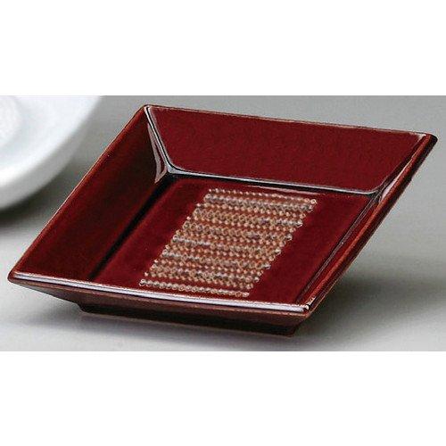 角おろし皿(小)わさび[ 8.5 x 8.5 x 2mm ]【 オロシ皿 】【 料亭 旅館 和食器 飲食店 業務用 】